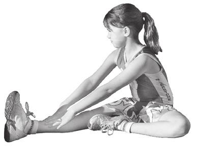 Gently lean forward from the hips until a stretch is felt up the back of the leg.