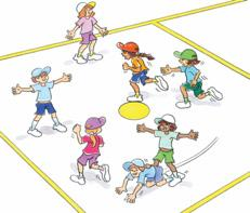RUN Scarecrow Tiggy To practise running and changing direction in a dynamic activity. As a group. One player is nominated as the tagger.