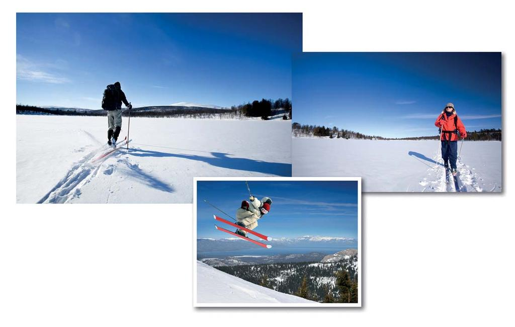 AN ACTIVE AND ADVENTUROUS VACATION ACTIVITIES AND EXPERIENCES The Olympic trail network has been extended and disposes 30 slopes offering winter experiences for skiers of all levels.
