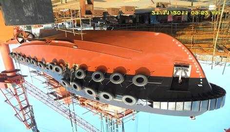 200 t Light displacement 134.000 t Built in 2009, brand-new LOA 29.00 m Length 26.20 m Length of waterline 27.67 m Breadth 7.