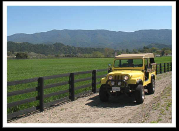 Jeep Tours The sightseeing adventure provides a special glimpse of Ojai which celebrates the history, flavors, and remarkable qualities the beautiful Ojai Valley has to offer.