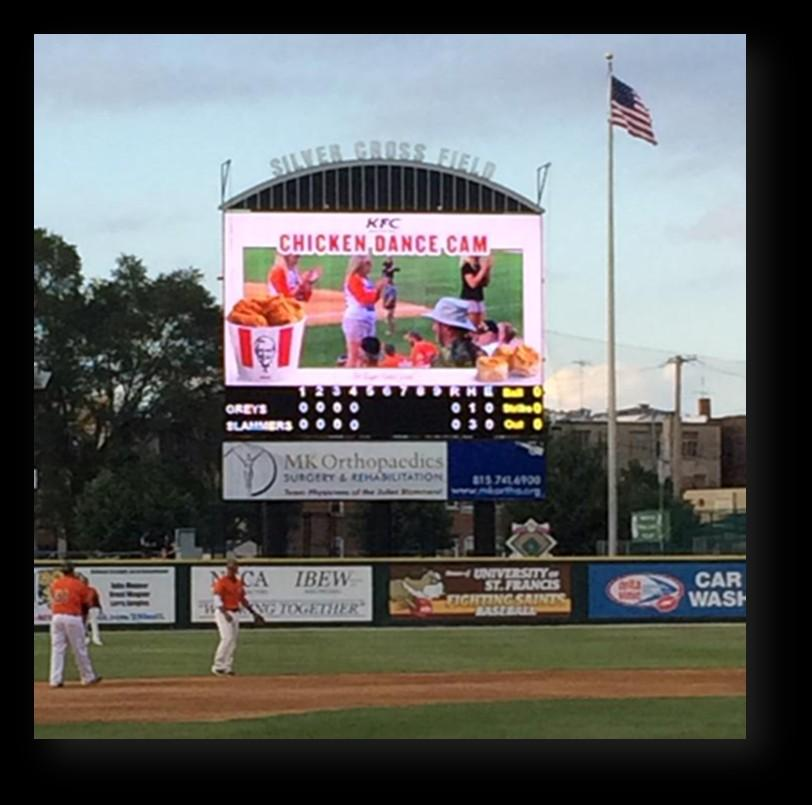 Go interactive with our 900 sq. ft. video board!