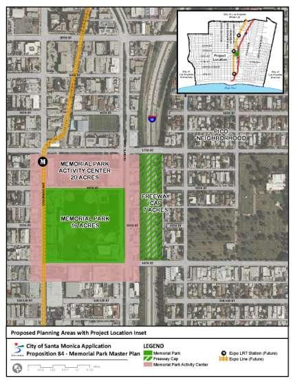MEMORIAL PARK MASTER PLAN- Planning Grant: CA STATE STRATEGIC GROWTH COUNCIL 12 Prop.