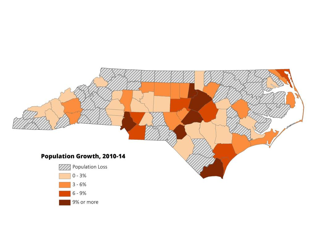 Observed growth more uneven than projected