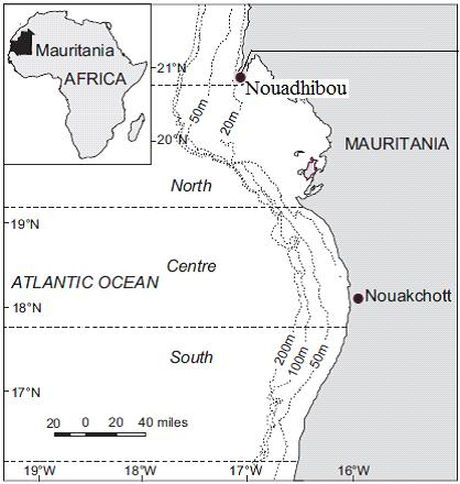 60 Gandega et al. - Reproduction of the rubber lip grunt on the northern coast of Mauritania Table 1. Catches (in tons) of Rubber lip grunt and total demersal fish caught in Mauritania (Gascuel et al.