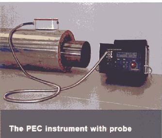 The Pulsed Eddy Current Instrument The main characteristics of the Pulsed Eddy Current instrument are: Single operator tool, portable instrument, handheld probe.