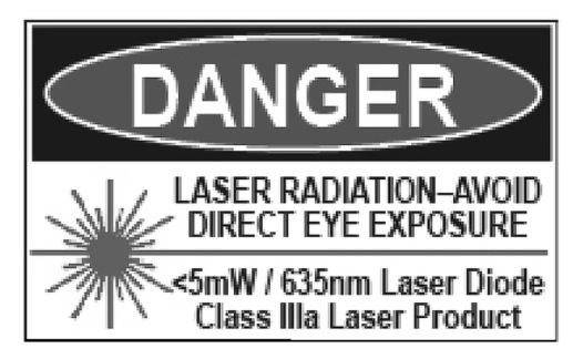 SAFETY SUMMARY Warning: Laser Light The MBS-AA borelight emits a laser light when activated that has been determined to pose a risk of eye injury.