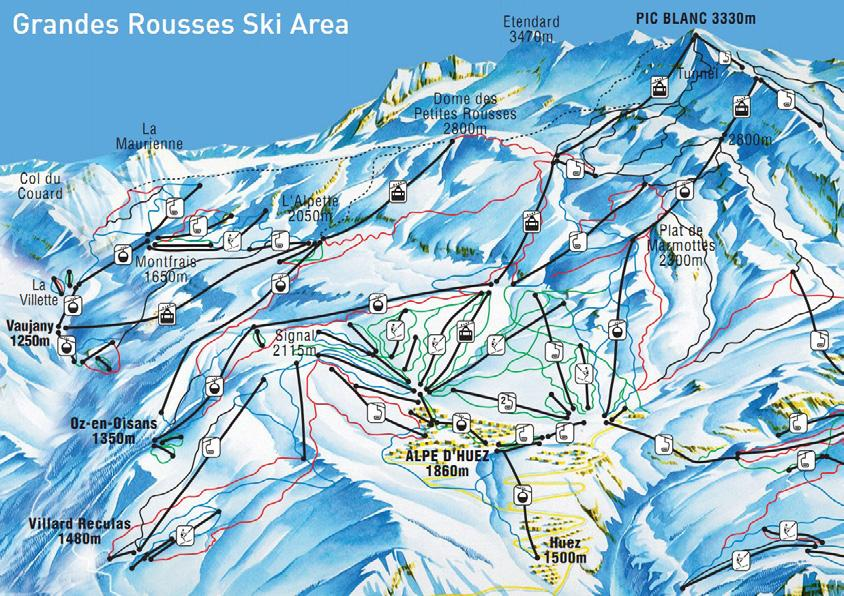 The lift pass for Alpe d Huez allows you to ski for a couple of days in some other resorts including Les Deux Alpes.