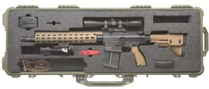 7 inch Modular Rail System (MRS) is lightweight and ergonomic more comfortable for the shooter s support hand.