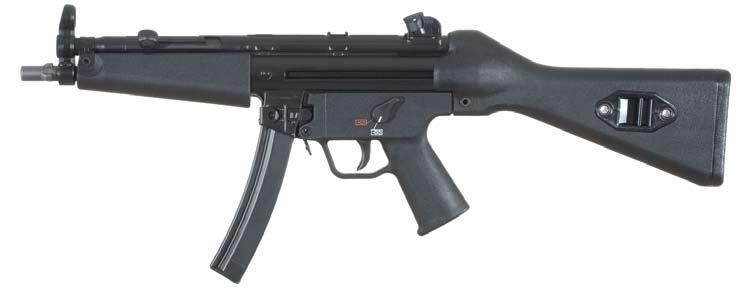 ........ F 0-1 trigger group Safe.............. Semi-automatic........ The MP5SD uses an integral aluminum sound suppressor.