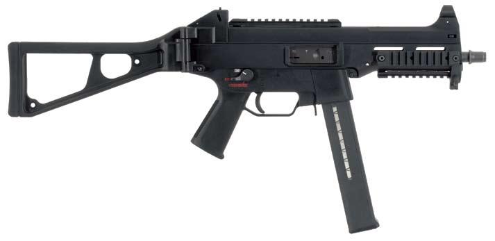UMp 9 mm x 19 /.40 S&W /.45ACP Military/Law Enforcement A truly modern submachine gun, the UMP is made using the latest in advanced polymers and high-tech materials.