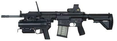 56 mm HK416, the HK417 shares similar operating control locations, assembly/disassembly, and appearance to current issue M16/M4-type weapons resulting in an immediate transfer of learned skills and