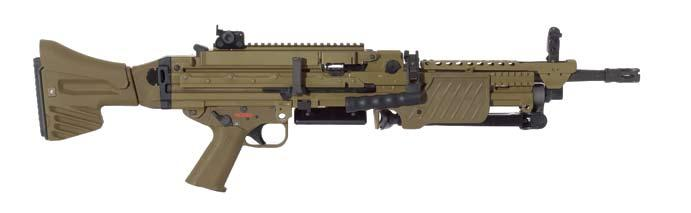 MG4 light machine gun 5.56 mm x 45 Military/Law Enforcement Developed as part of the German Bundeswehr s Infantryman of the Future program, the MG4 is Heckler & Koch s latest 5.
