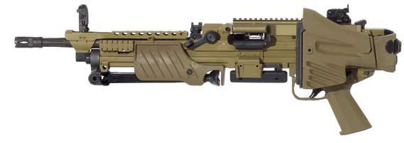 56 mm simple and quick barrel change Heckler & Koch set the standard for durability of barrels.