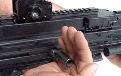 It can be simply folded up and stowed away in the ergonomically formed handguard.