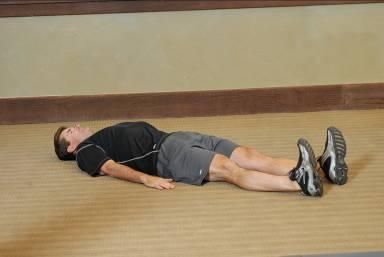 Lying Glute Stretch Lying Glute Stretch a Lying Glute Stretch b Lie on your back with your legs extended and arms at