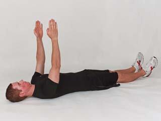 Start the movement by extending your arms straight back towards the