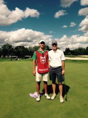 From then on, my competitive nature overtook me and I made sure I was working longer than the other candidates. Evans Scholar Nathan Graham caddying for Jason Hanson at Oakland Hills Country Club.