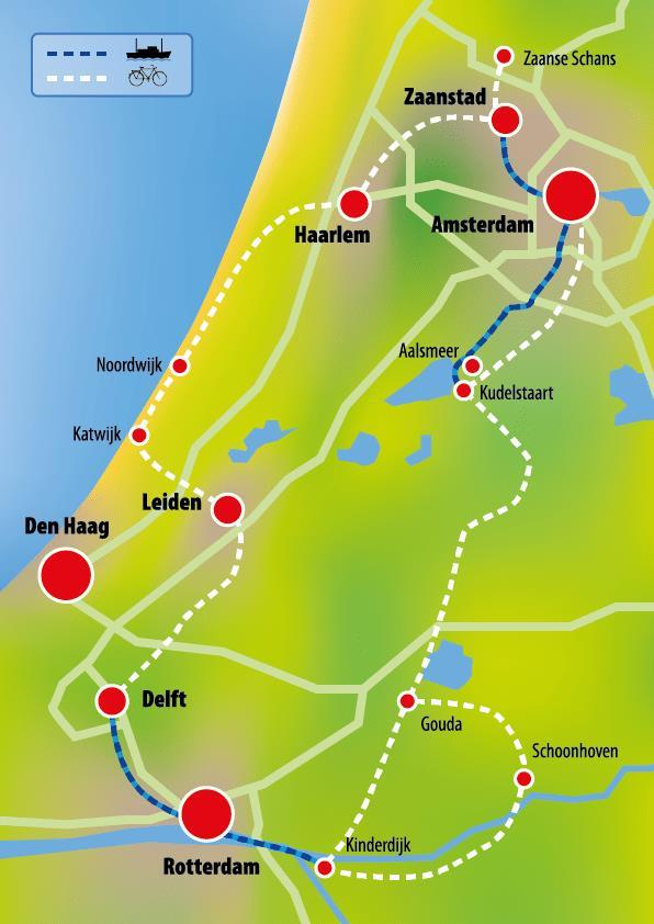 HOLLAND 2018 HOLLAND S HIGHLIGHTS BY BIKE AND BARGE 8 DAYS / 7 NIGHTS (cycling is self-guided) Bike and barge holidays are a wonderful way to explore a country - cycling picturesque villages and
