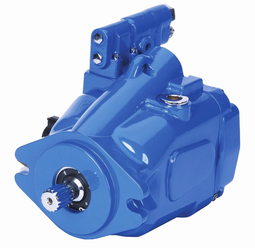 Introduction 42 Series Mobile Piston Pump Eaton s 42 Series mobile pumps are open circuit, axial piston designs with displacements of 41cc, 49cc, 62cc, and 8cc for operating speeds up to 2,65 rpm.