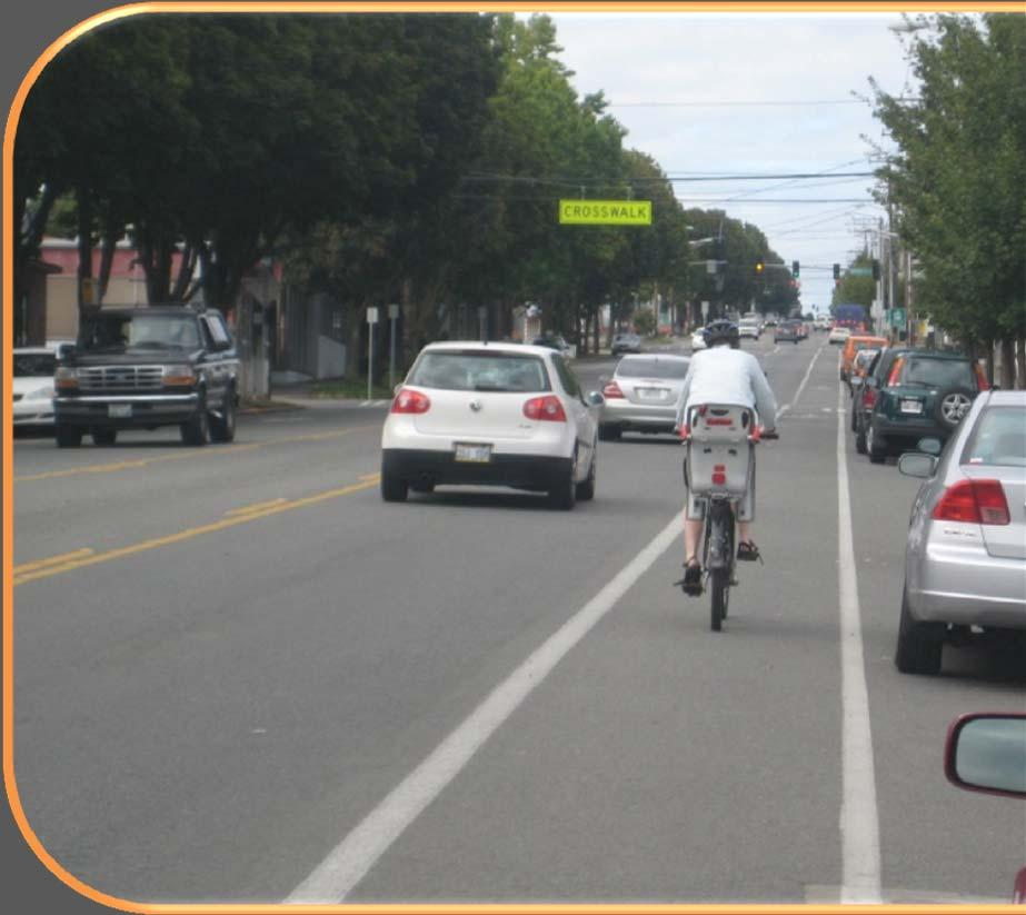 BIKE LANES Nuanced guidance on widths (4 to 7 feet) Measures to reduce crashes