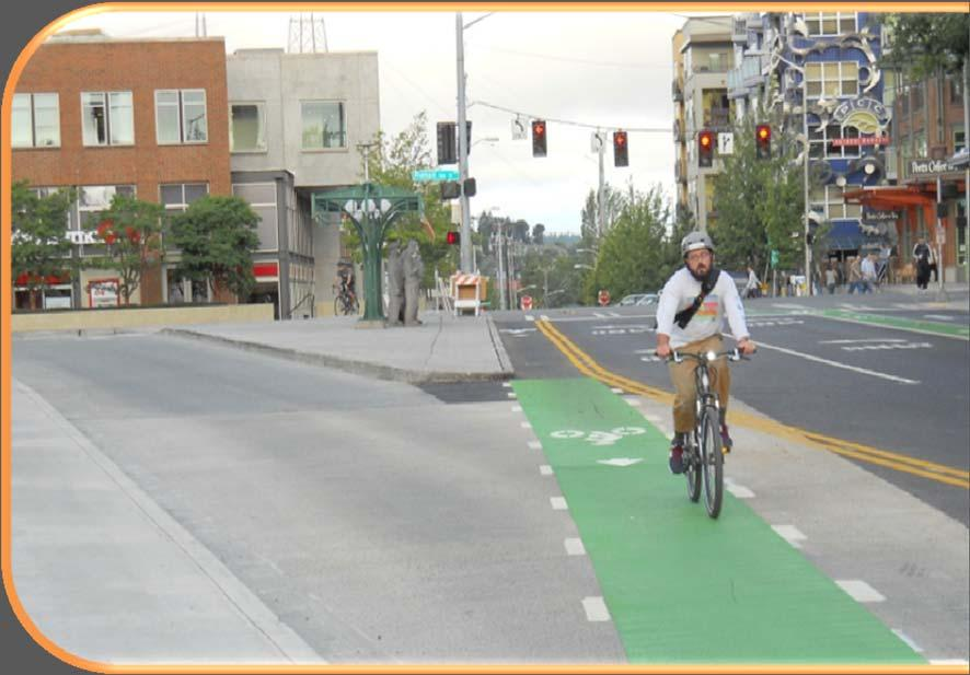 GREEN BIKE LANES Based on Interim Approval issued by FHWA in April 2011, contrasting green color pavement may be used in marked bike lanes, and in
