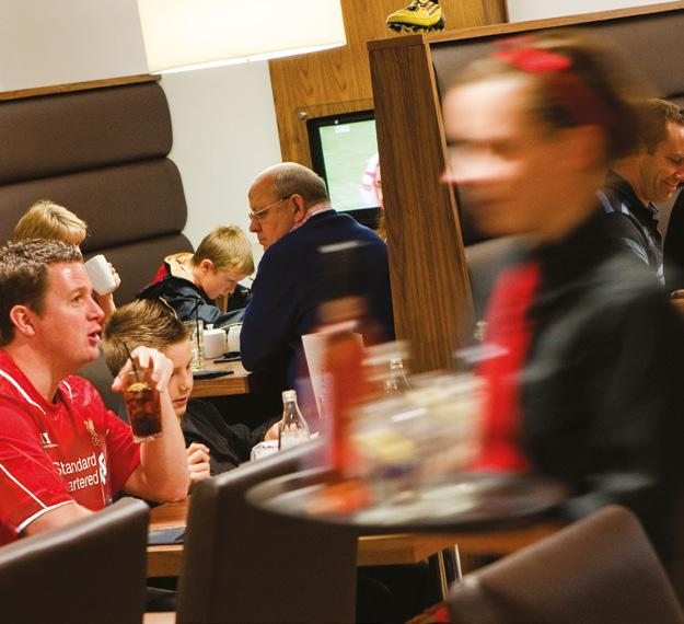 Boot Room Restaurant This ideal family package includes a pre-game visit to the Club s museum with the Boot Room Restaurant located right next door in the famous Kop Stand.