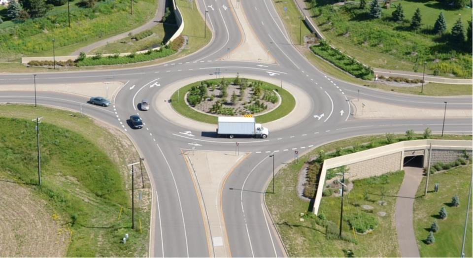 BENEFITS OF ROUNDABOUTS Increased Traffic Safety Increased Pedestrian Safety Traffic Calming Operational