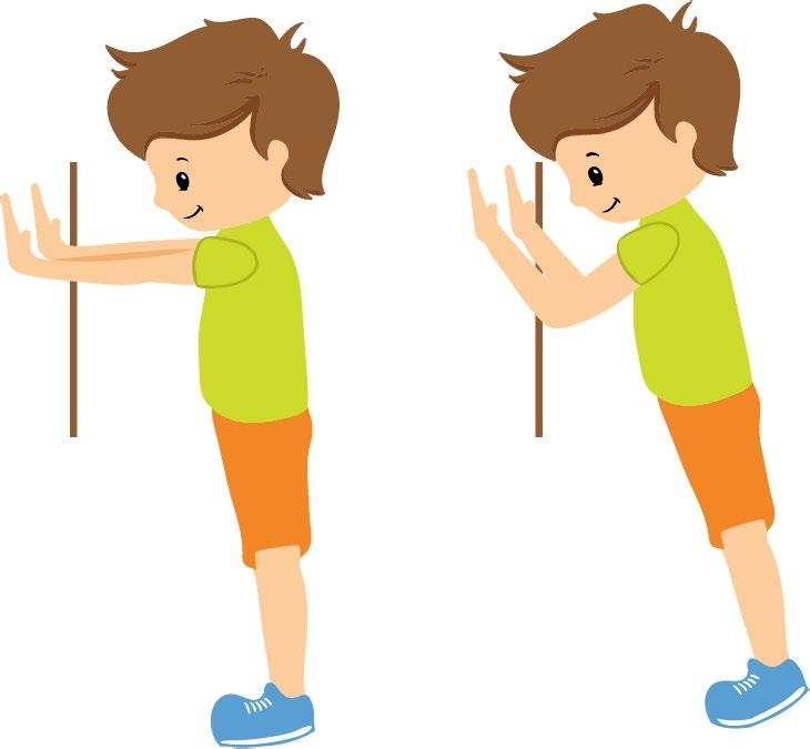 4 Push your body back with your hands into a standing