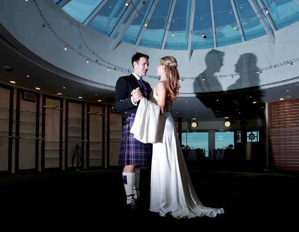 You can choose to have your first dance under the stars in our glass-topped dome or perhaps hold the