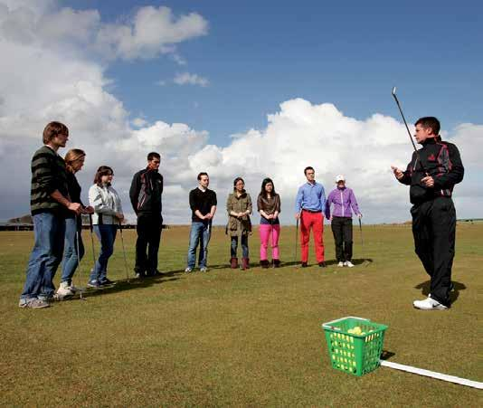 One of the most advanced teaching facilities in Europe, golfers can benefit from the