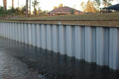 Common Solution to Erosion Bulkheads are often used to prevent property loss due to erosion.