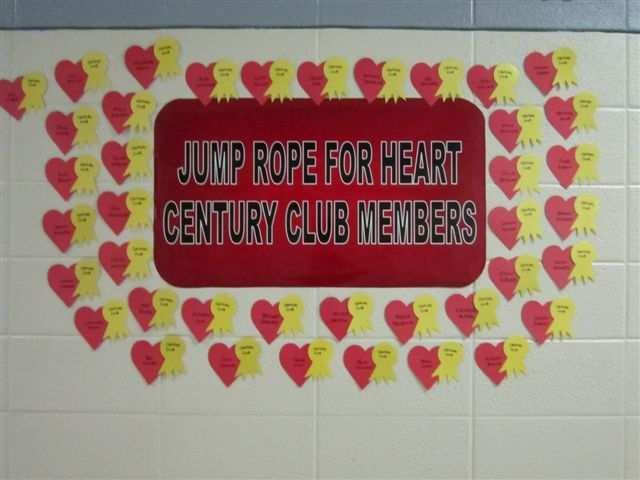 6) Recognize 100% class participation with a special heart on the Heart Wall. 7) Prize for 100% class participation. Kickball for the class is popular at our school. 8) JRFH pencil for signing up.