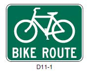 Criteria: Wayfinding can be used to help bicyclists (and vehicle drivers) identify which facilities are designated as bicycle