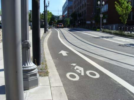 Bicycle Lanes d. Left Side Lane Left side bicycle lanes can be used on one-way streets or on median divided two way streets.