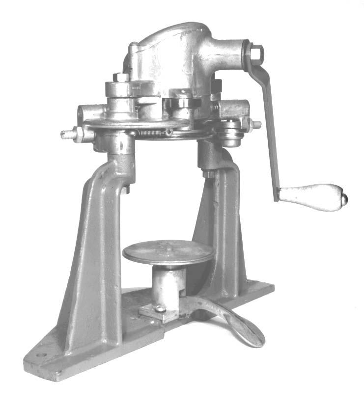 OPERATOR'S MANUAL Model 23H Hand Crank Seamer If you are not