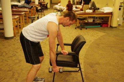 Prone Row Standing, bent over at the