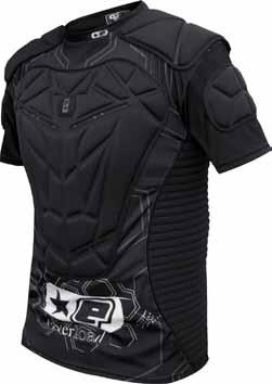 Padded key impact zones covering the chest, back, shoulders, arms and ribs.