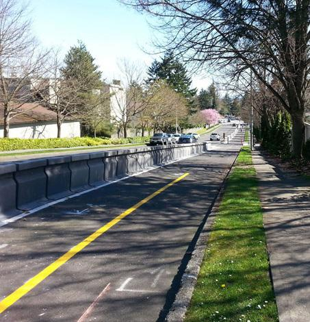 PROTECTED BIKE LANE WITH BARRIER WALL Advantage Provides best crash protection 2 8 Disadvantage Costs more 4 Adds more weight to bridges*