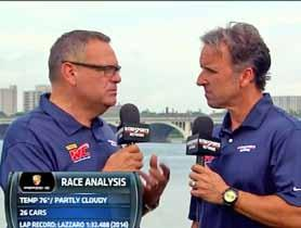 Sports Car racing experts and well known announcers Greg