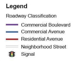 STREET NETWORK To support multimodal activity and development, the City of Fort Lauderdale has classified its streets according the types of users as well as the surrounding land uses and