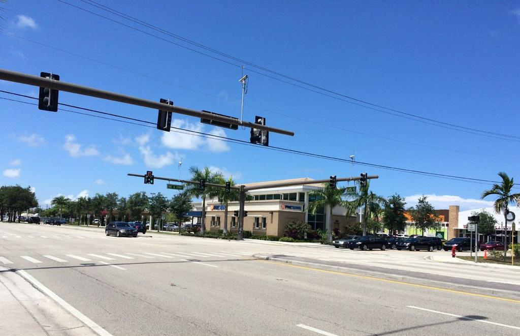 None of them are currently signalized, and therefore would require coordination with both Broward County and the Florida Department of Transportation to install new signals and change the signal