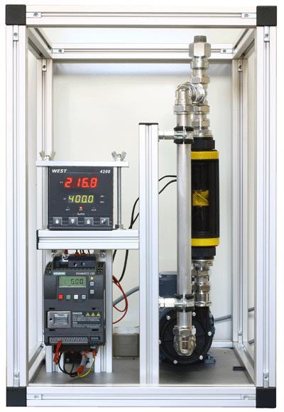 One of the flow rigs used on the control and : This one uses an inverter drive controlling a variable speed electrical pump The above exercises generate all the evidence