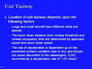 the width of the exit taxiway and the width of the main taxiway is also being shown, which is 22.