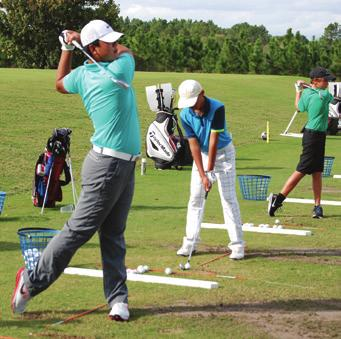 drills, routines, goal setting On range drills and routines On range training or on course