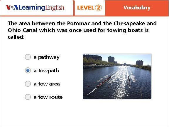 Question 2 a pathway a towpath a tow area a tow route