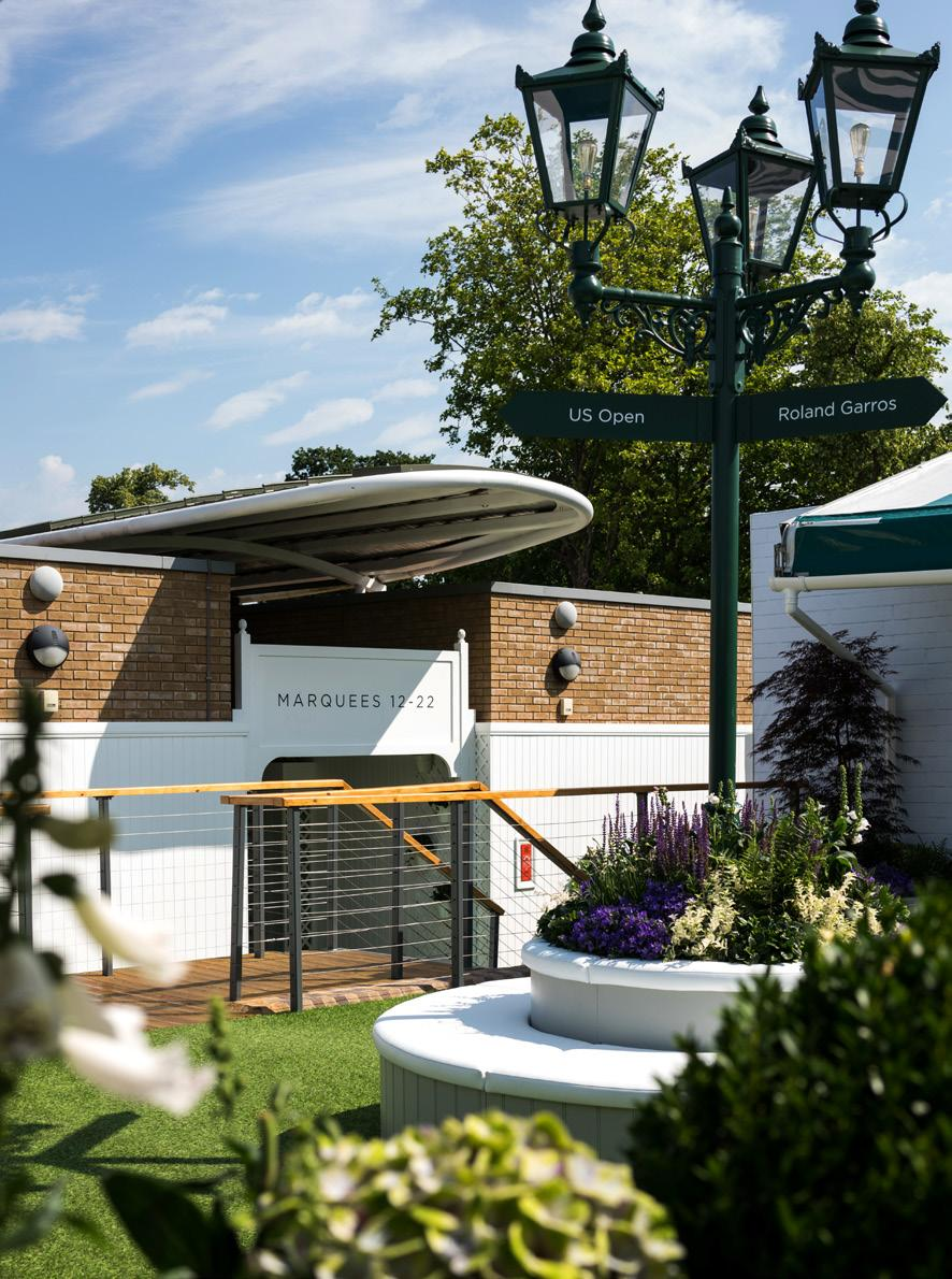 THE MARQUEE Nestled in a setting that is true to our original ideal of Tennis in