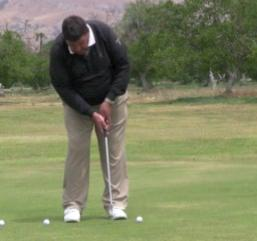When the head moves forward in the putting stroke the shoulders move right along with it.