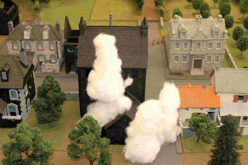 The Germans Press On The Germans attempted to cover their assault by using smoke for the