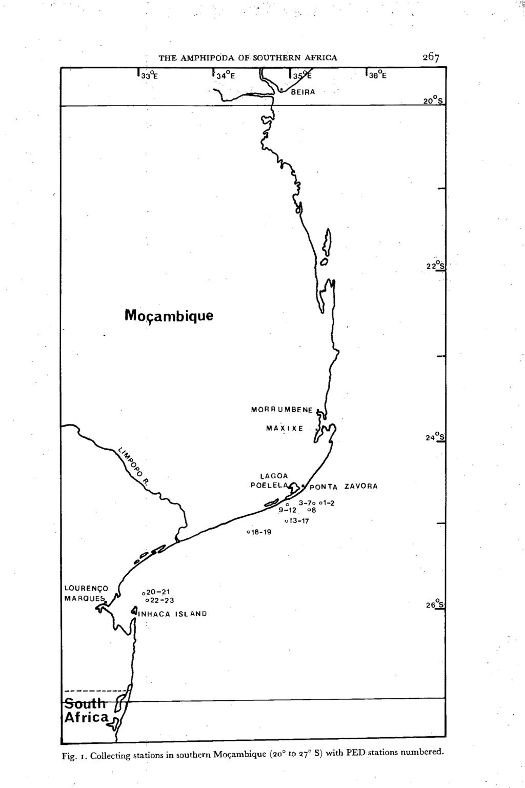 THE AMPHIPODA OF SOUTHERN AFRICA Mo,~ambique MA)(lXE ZAVORA 018-19 013-17 08 Fig. I.